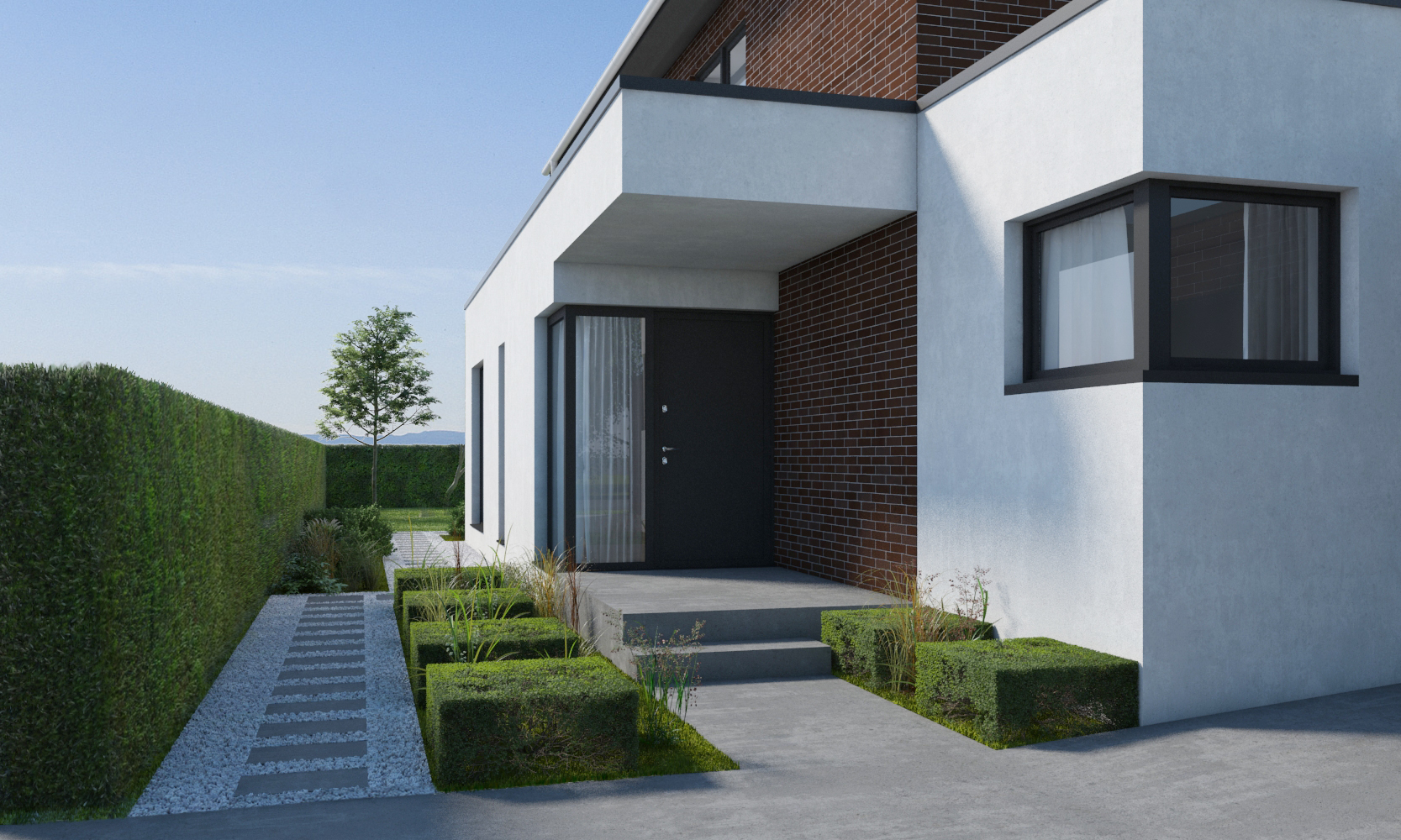 Modern Home with a Garden