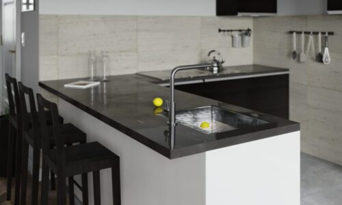 Sleek, Modern Kitchen in Black & White