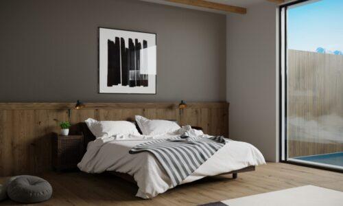 Contemporary Glass & Timber Bedroom Design